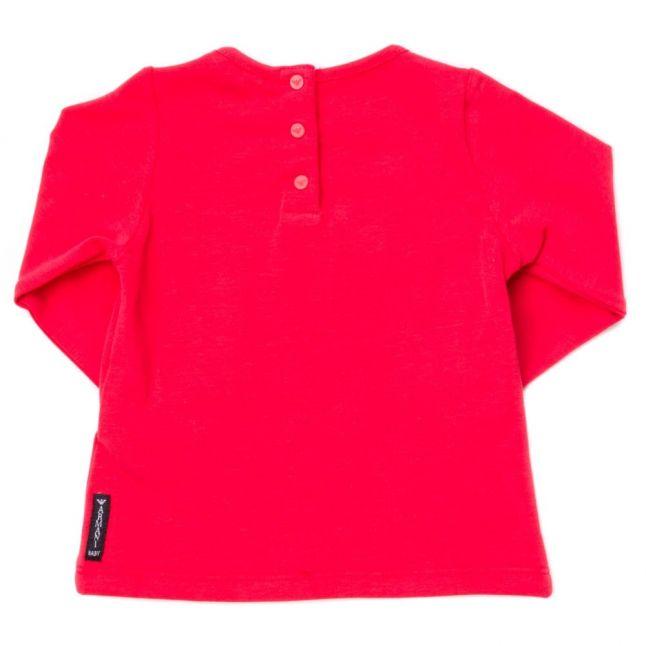 Baby Red Diamante Logo L/s Tee Shirt
