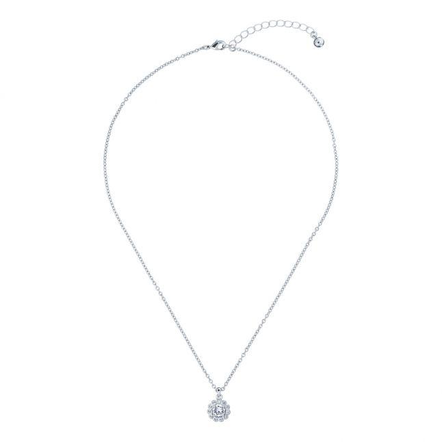 Womens Silver/Crystal Lramza Daisy Pendant Necklace