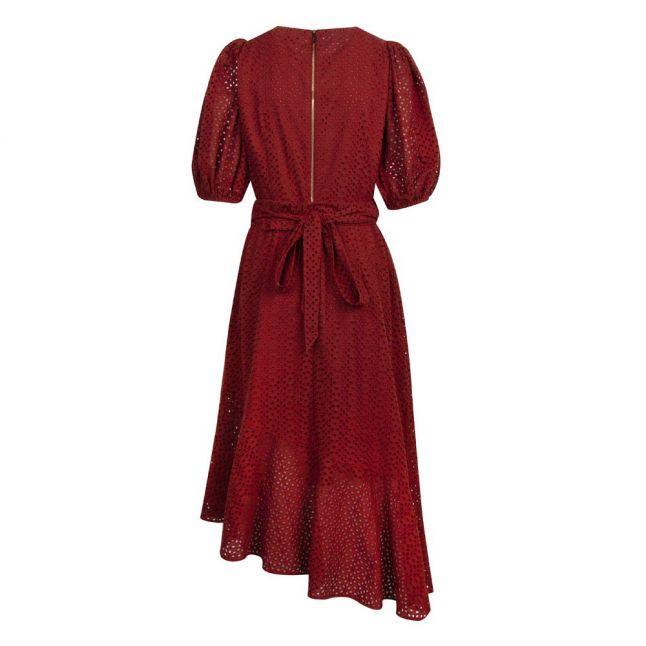 Womens Dark Orange Belllaa Broderie Midi Dress