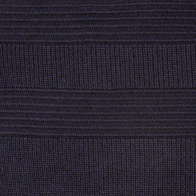 Mens Dark Blue Rossi Mixed Stitch Knitted Jumper