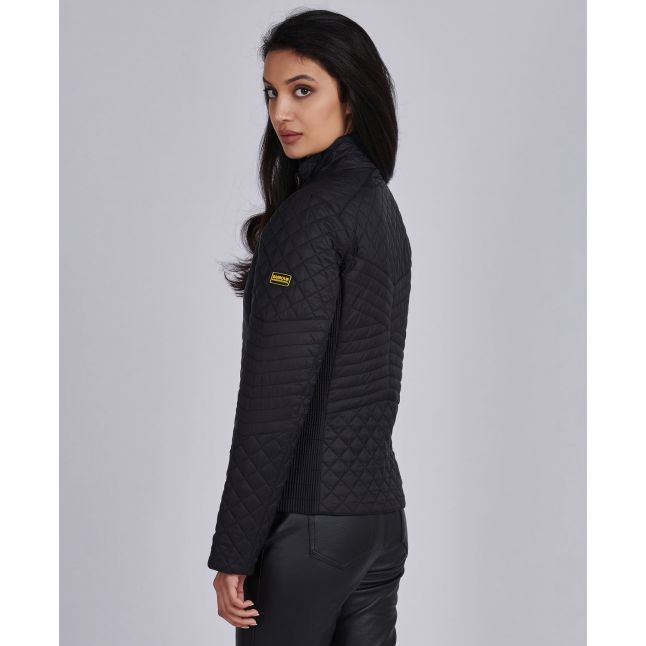Womens Black Formation Quilted Jacket
