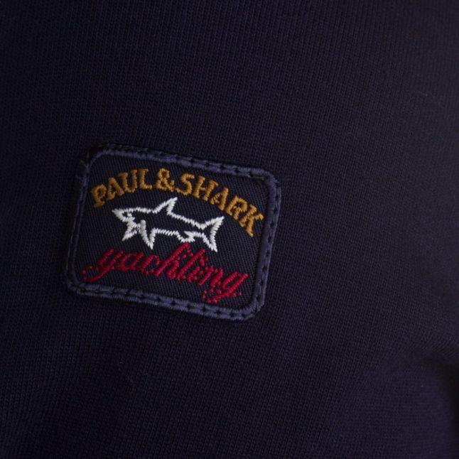 Paul & Shark Mens Navy Shark Fit Hooded Sweat Top