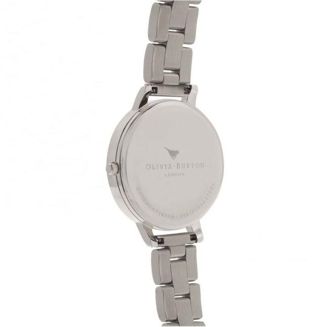 Womens Silver Big Dial Bracelet Watch
