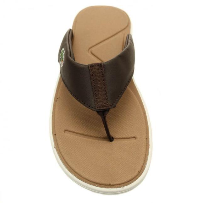 Mens Dark Brown L.30 Flip Flops