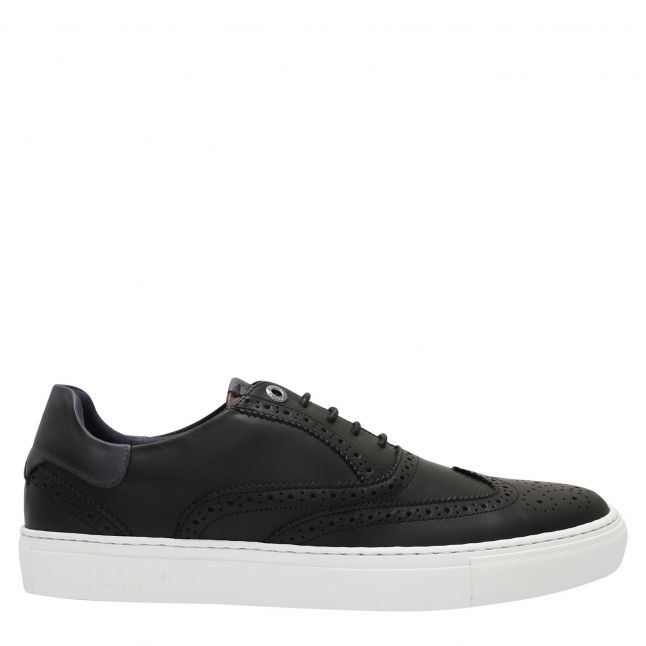 Mens Black Dennton Brogue Trainers