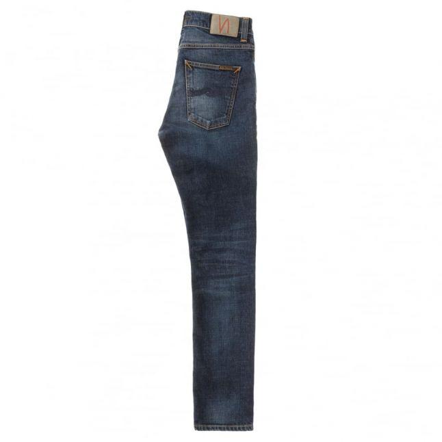 Mens Dark Worn Navy Lean Dean Slim Fit Jeans