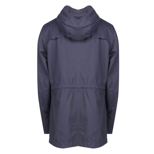 Mens Navy Okian-W Hooded Jacket