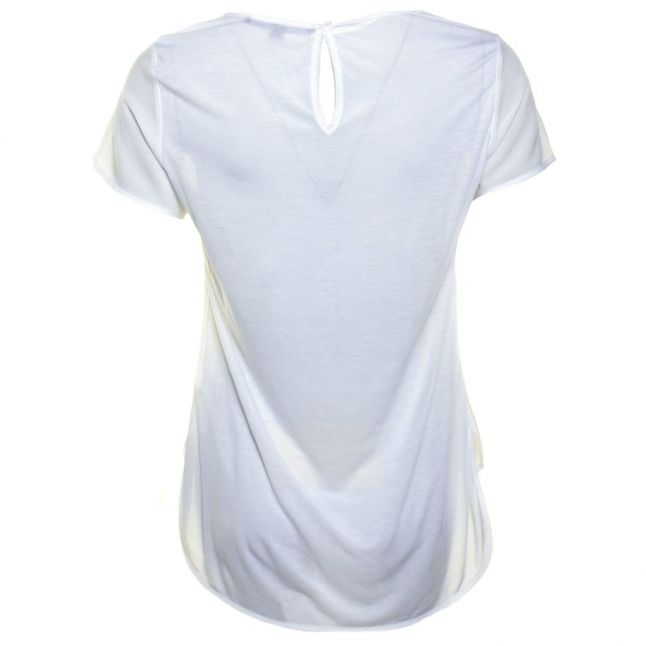 Womens Summer White Polly Plains Classic Pocket Top