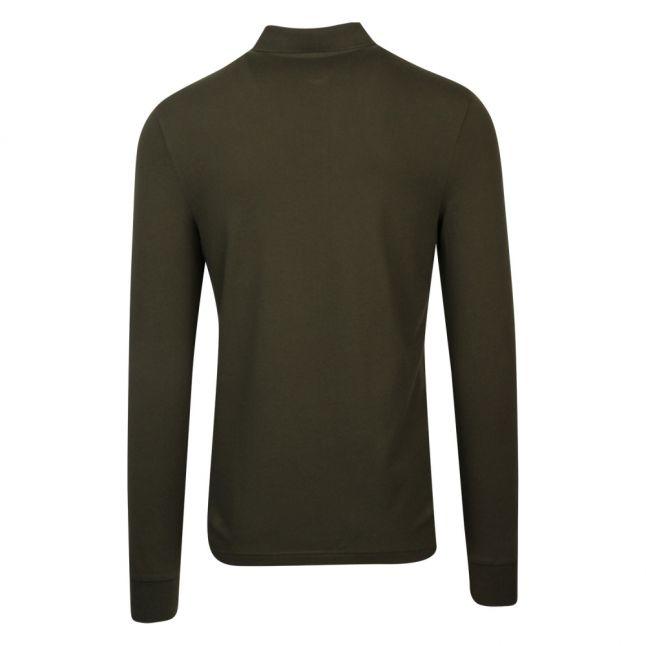 Casual Mens Khaki Passerby Slim Fit L/s Polo Shirt
