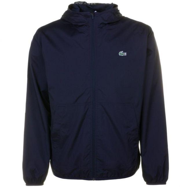 Mens Blue Lightweight Hooded Jacket