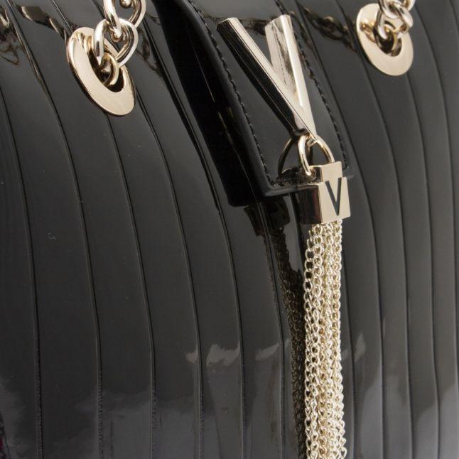 Womens Black Bongo Patent Medium Tote Bag