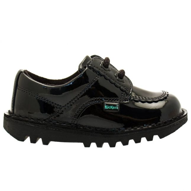 Infant Black Patent Leather Kick Lo F (5-12)
