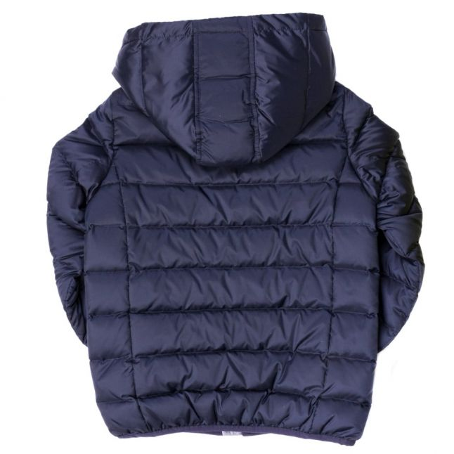 Boys Navy Hooded Down Filled Jacket