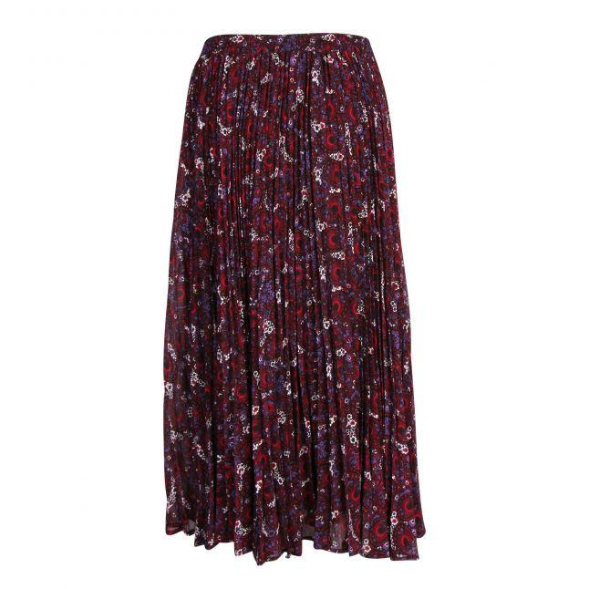 Womens Azalea Zinnia Paisley Pleated Midi Skirt