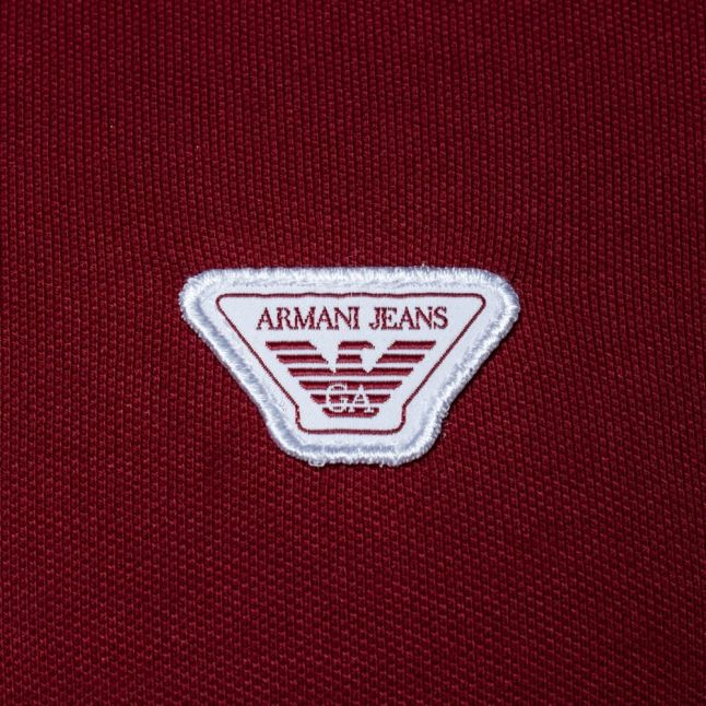 Mens Red Slim Fit S/s Polo Shirt