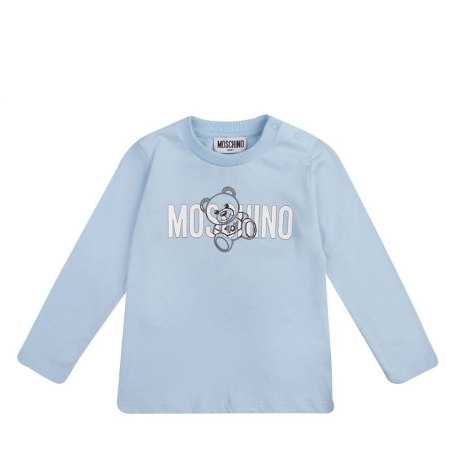 Baby Sky Blue Silver Toy Logo L/s T Shirt