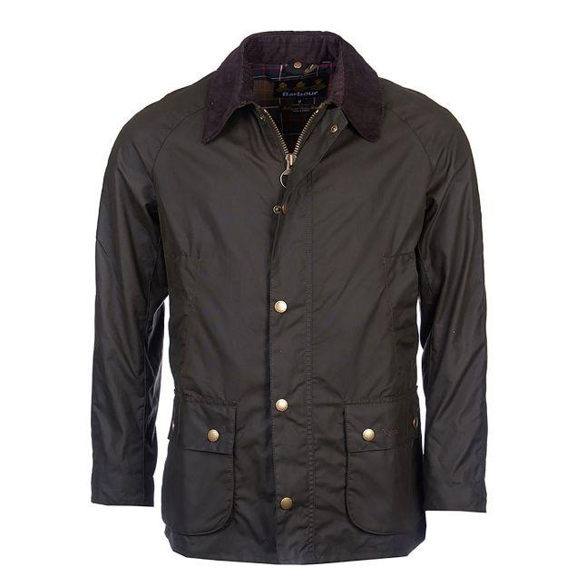 Mens Olive Ashby Waxed Jacket