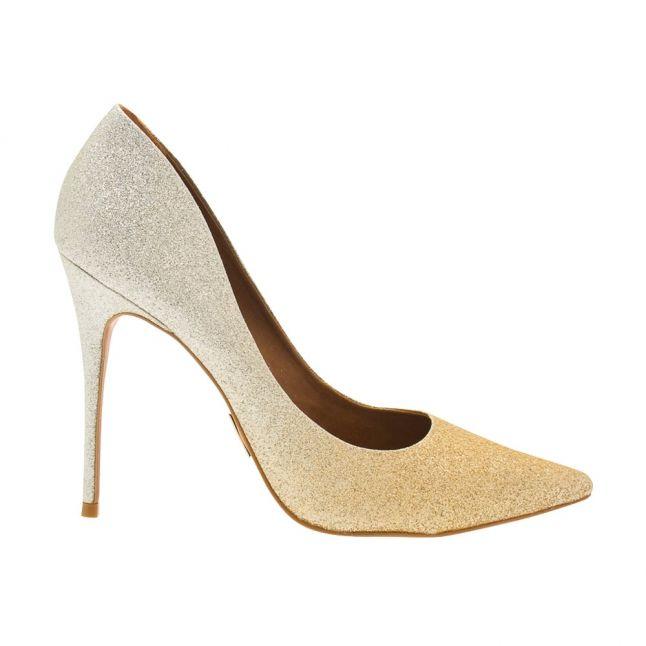 Womens Champagne Cristina Two Tone Heeled Shoes