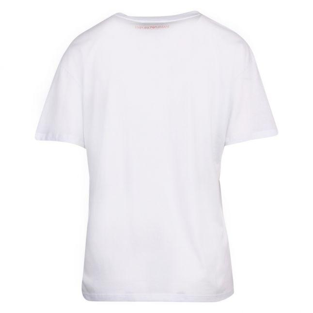 Womens White Large Logo S/s T Shirt