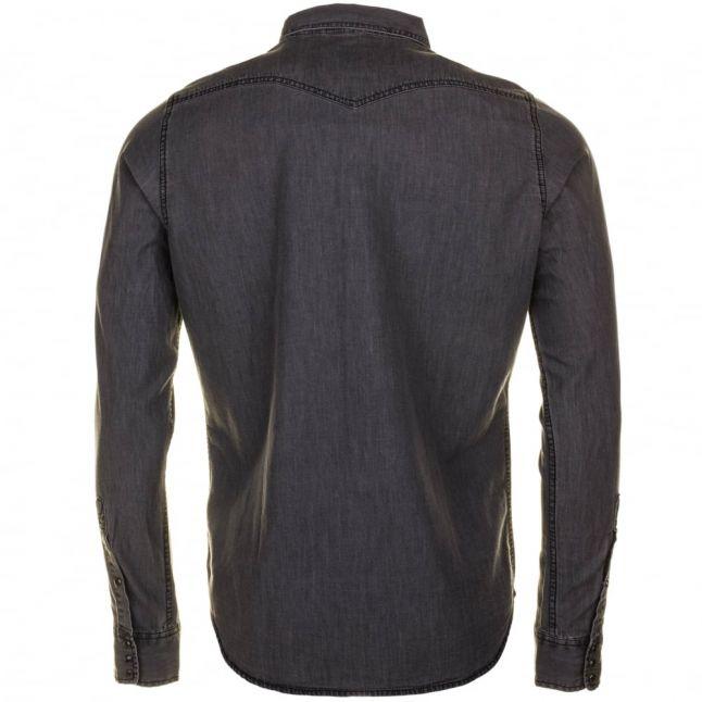 Mens Grey Denim New-Sonora-E L/s Shirt