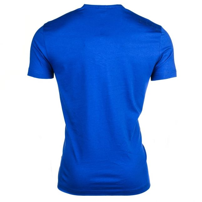 Mens Open Blue Tee Small Logo S/s Tee Shirt