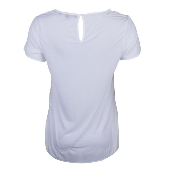 Womens Summer White Classic Crepe Pocket Top