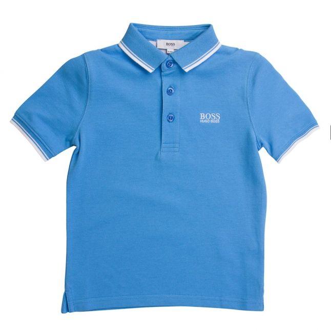 Boss Boys Blue Tipped S/s Polo Shirt