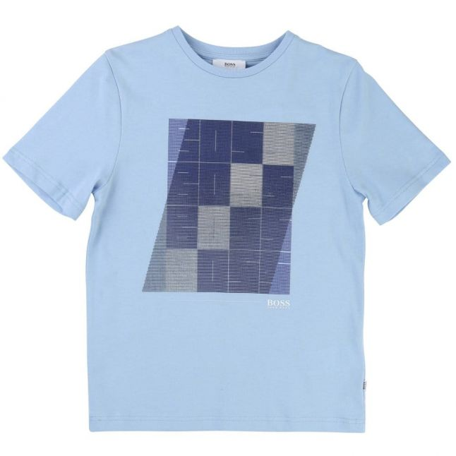 Boys Blue Box Branded S/s Tee Shirt