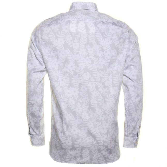 Mens White Twoaces Floral L/s Shirt