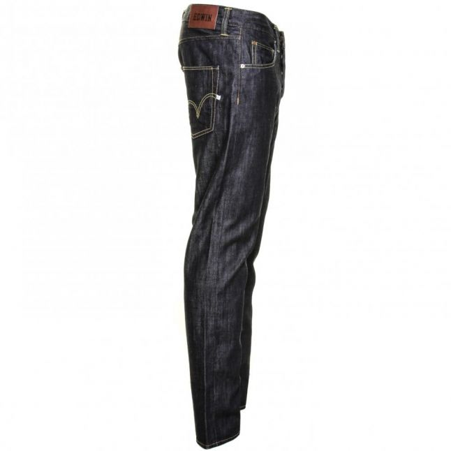 Mens 12oz F9.00 Blue Rinsed Wash ED-55 Relaxed Tapered Fit Jeans