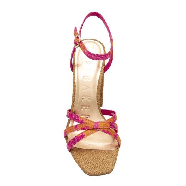 Womens Pink Kasiras Metropolis Heeled Sandals
