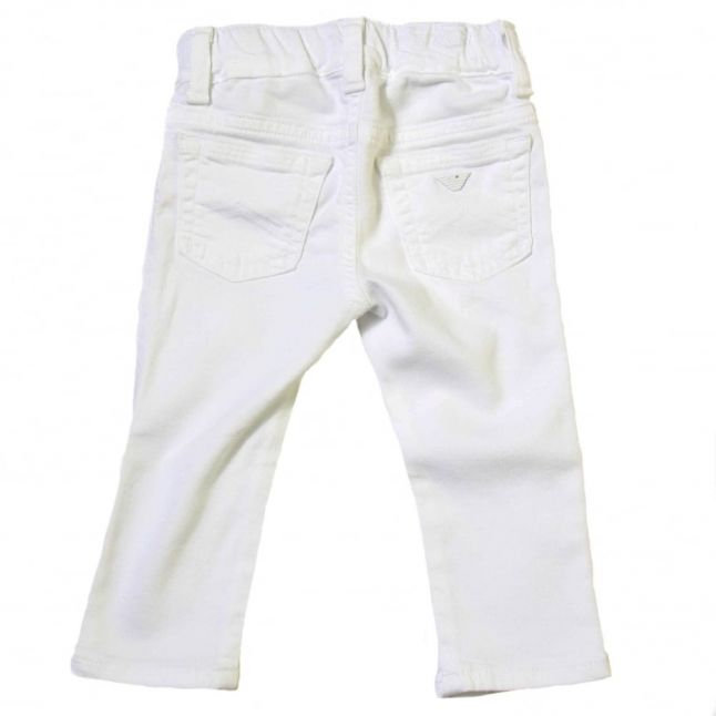 Baby White Stretch Pants