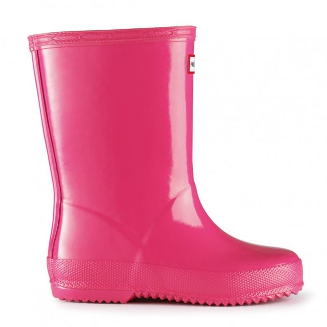 Kids Fuschia First Gloss Wellington Boots (4-8)