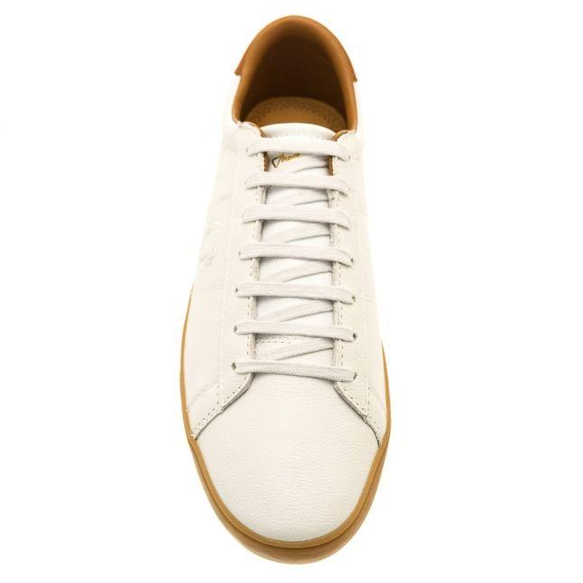 Mens White Spencer Leather Trainer