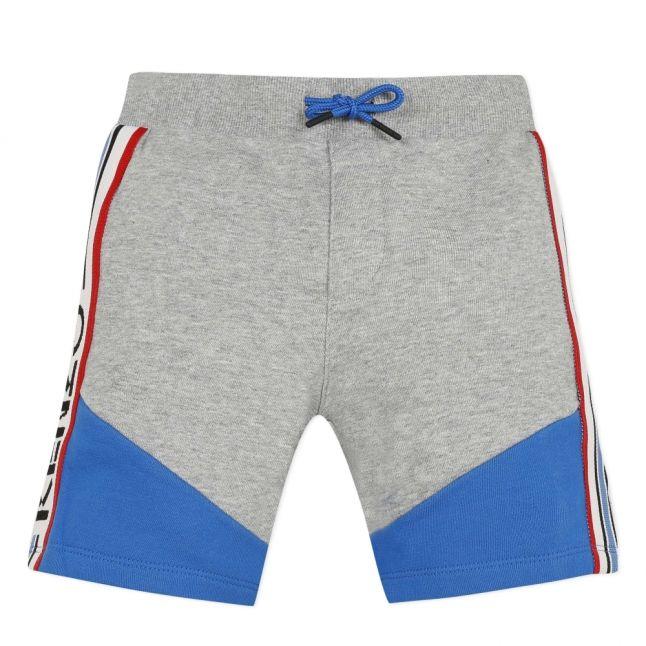 Boys Marl Grey Stripe Trim Sweat Shorts