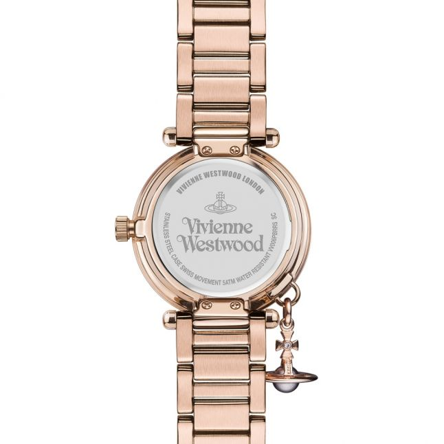 Womens Rose Gold/Brown Mother Orb Watch