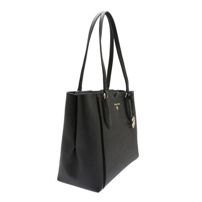Womens Black Mae Mercer Medium Top Zip Shopper Bag