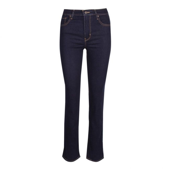 Womens To the Nine Blue 724 High Rise Straight Fit Jeans