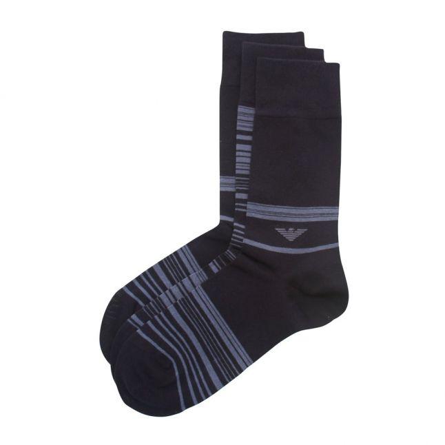 Mens Navy Blue 3 Pack Socks