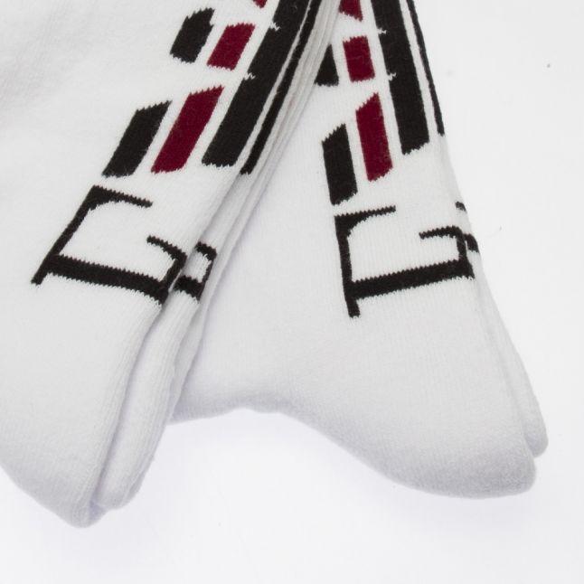 Mens White Cotton Sport 2 Pack Socks