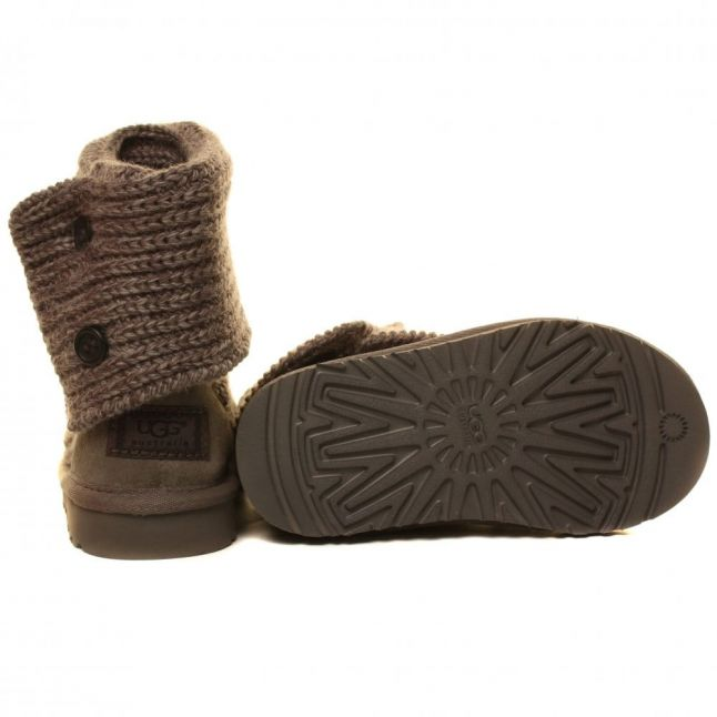 Kids Grey Classic Cardy Boots (7-5)