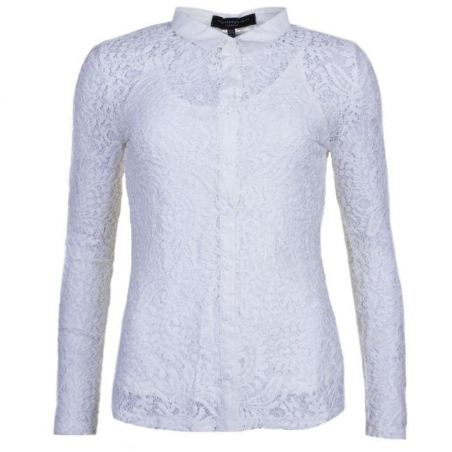 Womens Ivory Toni Lace L/s Shirt