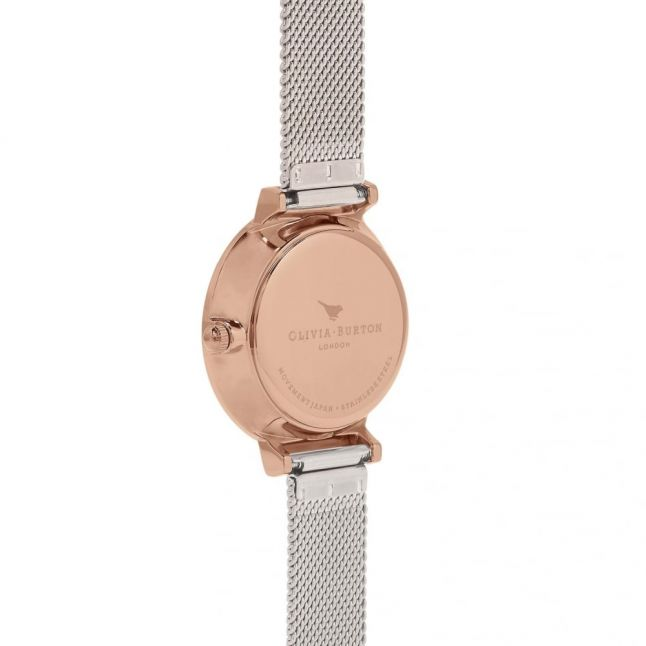 Womens Rose Gold & Silver Mesh Hackney Watch