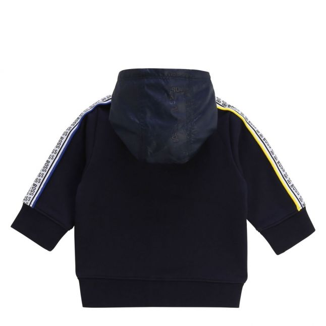 Toddler Navy Multi Logo Trim Hooded Zip Through Sweat Top