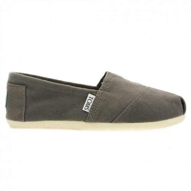 Womens Grey Classic Canvas Espadrille