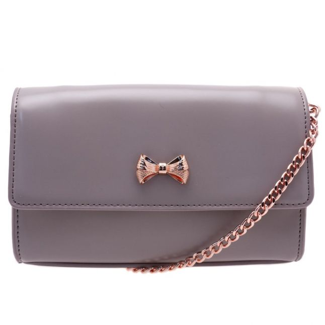 Womens Mid Purple Aelia Small Micro Bow Cross Body Bag