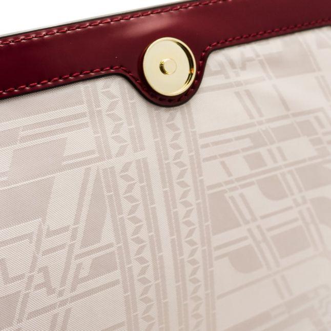 Womens Oxblood Gerri Geometric Bow Top Handle Bag