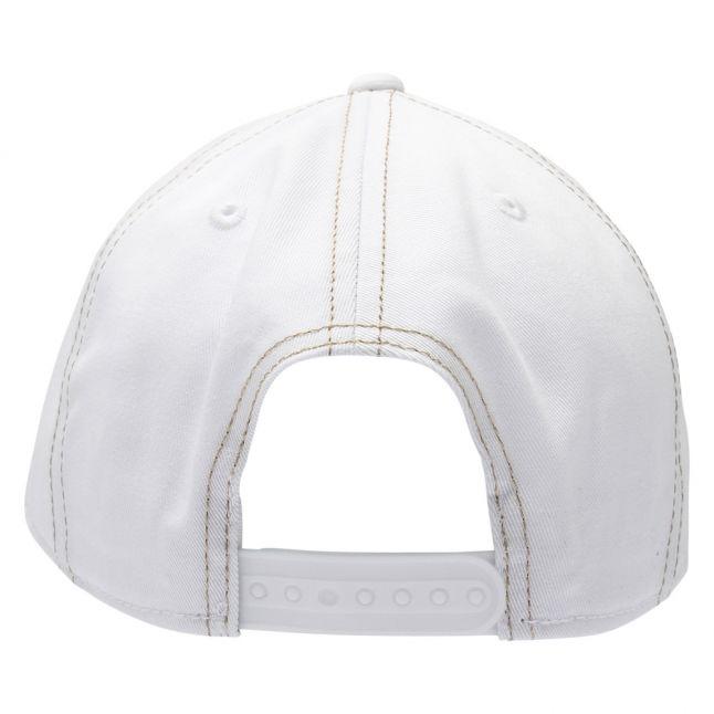 Womens White Branded Logo Cap