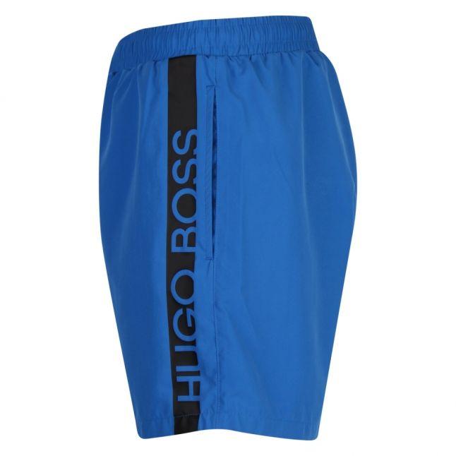 Mens Medium Blue Dolphin Side Logo Swim Shorts