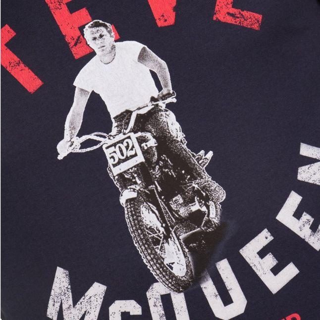 Steve McQueen™ Collection Mens Navy Leap S/s Tee Shirt